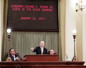 Calif. Gov. Brown delivers 2014 State of the State Address. Photo Credit: Justin Short, Office of the Governor.