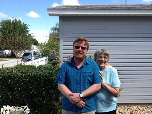 Visiting with Mom in Florida in April 2014, before her cancer entered the terminal phase.